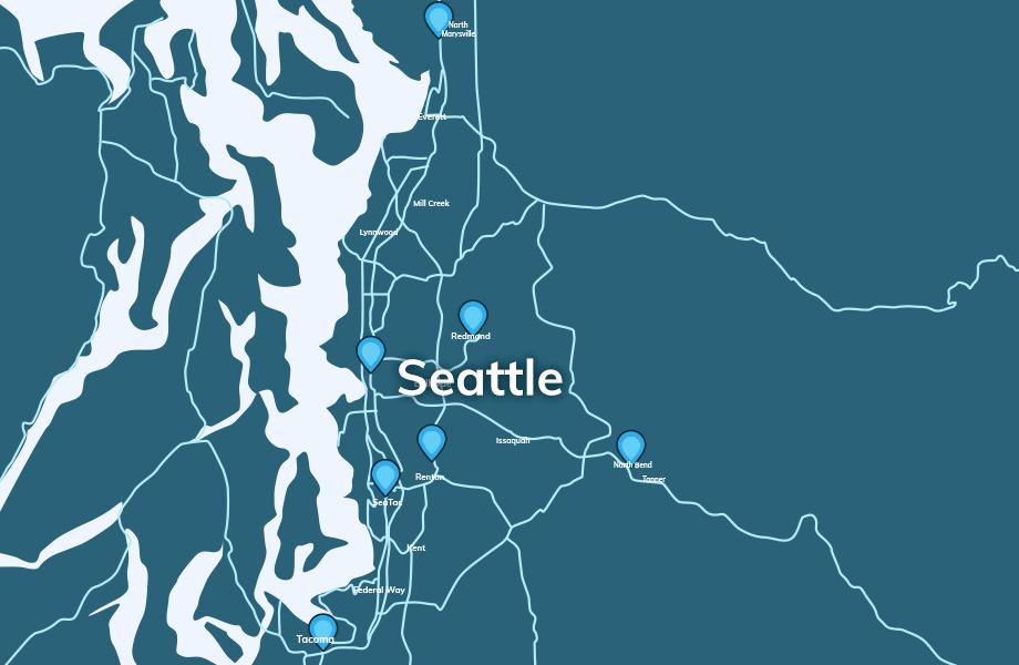 EVgo Tesla Connector Seattle map